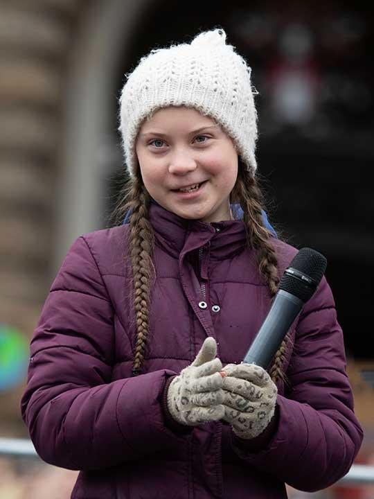 Greta Thunberg Swedish climate activist 20190314