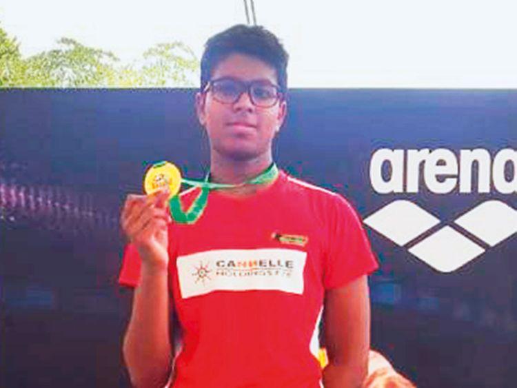 Indian teenage swimmer Vissesh Parameswar Sharma