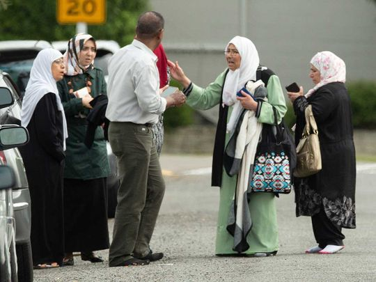 Muslim family outside mosque 20190315