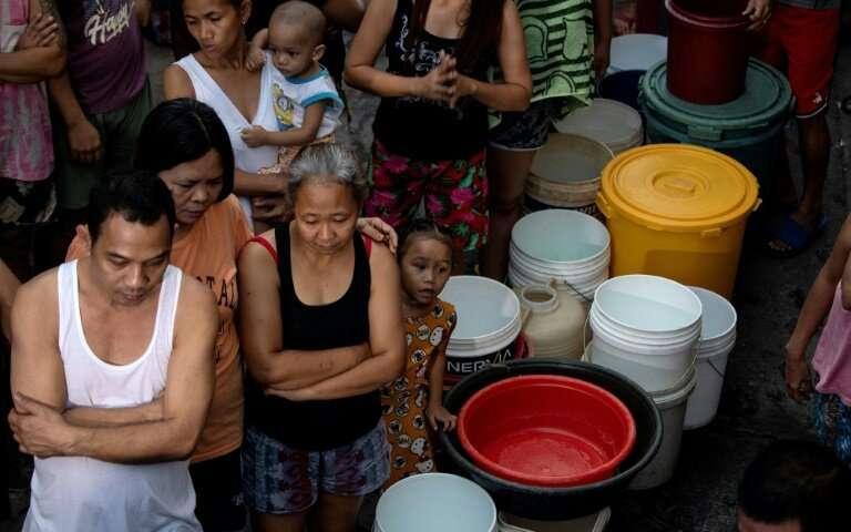 Taps dry Manila