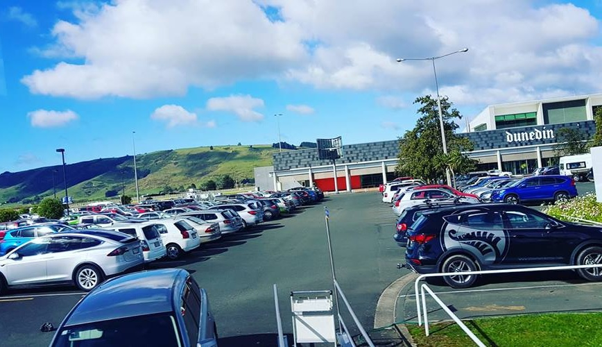 Police are at the scene at Dunedin Airport 01