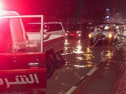 Ras Al Khaimah Police push cars out of valleys