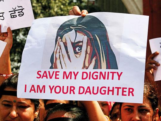 India minor rape protests