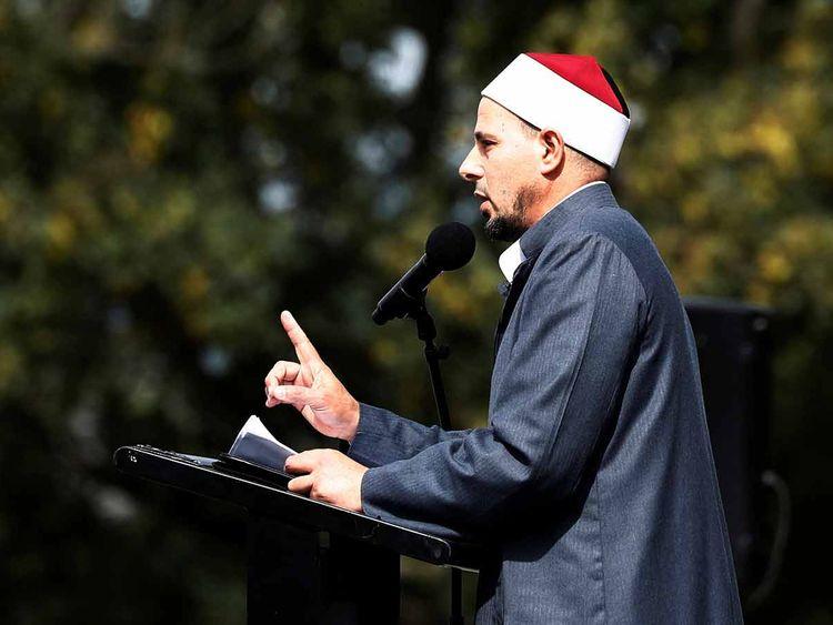 Imam Gamal Fouda leads a Friday prayer 20190322
