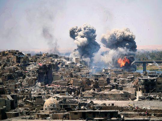Airstrikes target Daesh positions