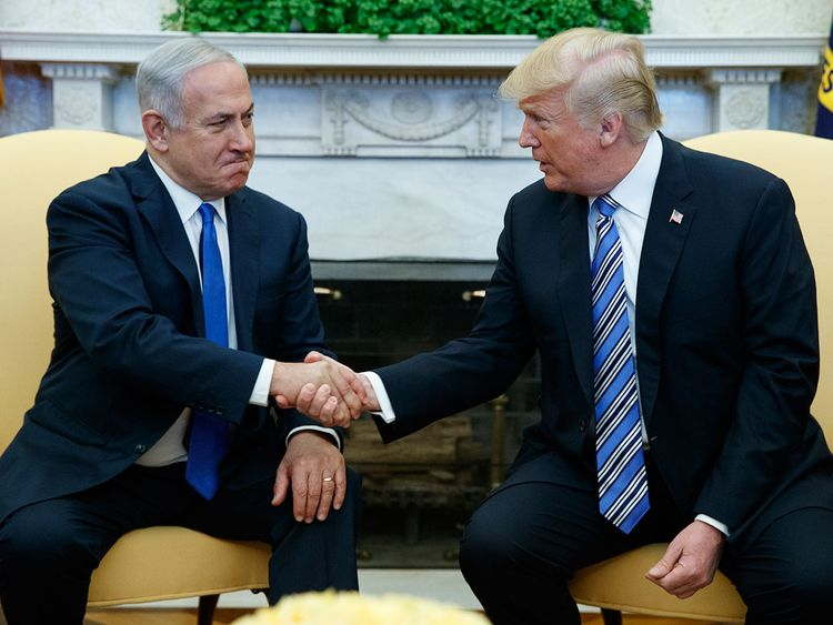 Benjamin Netanyahu with Trump