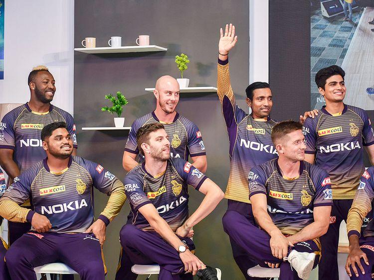 Kolkata Knight Riders' team players
