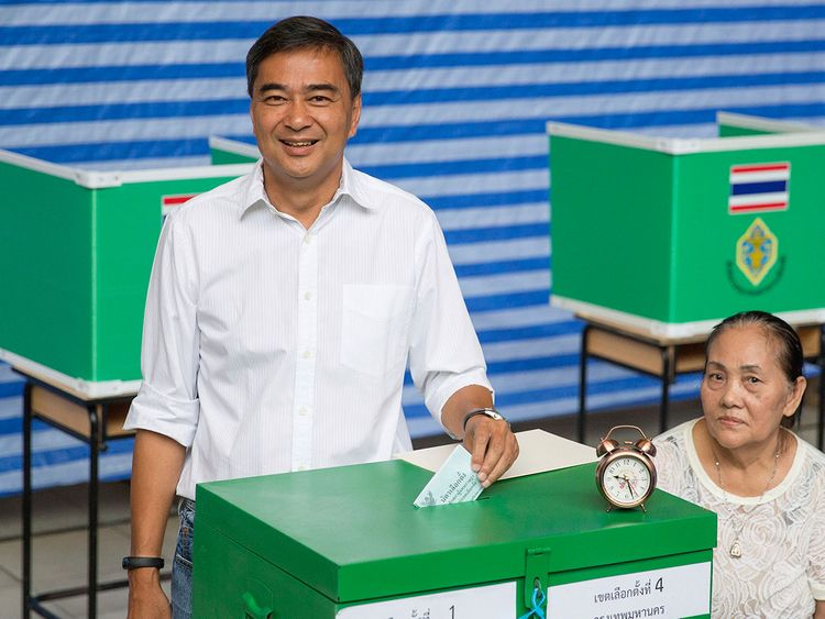 Thai Democrat Party leader Abhisit Vejjajiva