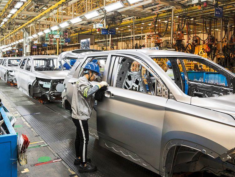 The SAIC-GM-Wuling automobile plant in Liuzhou, Guangxi province