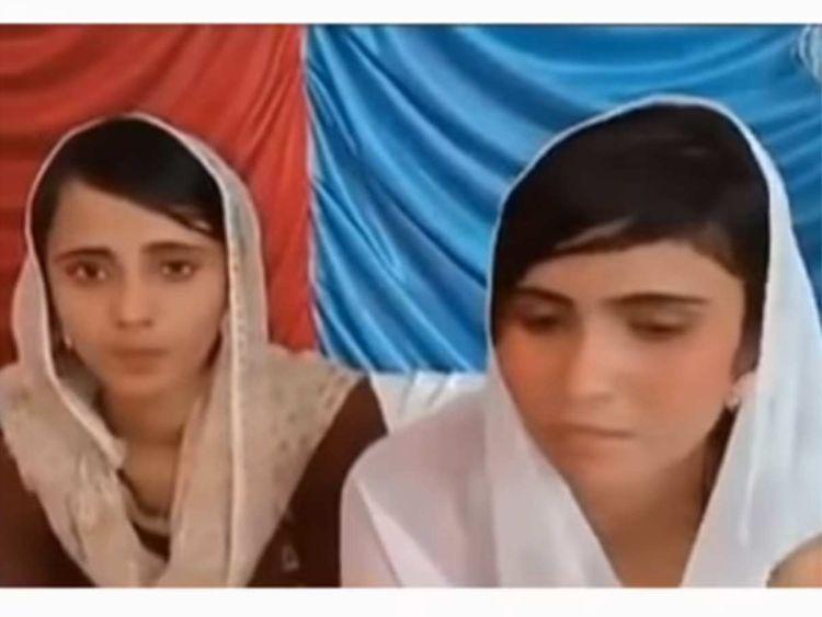 A video grab showing Raveena and Reena 20190325