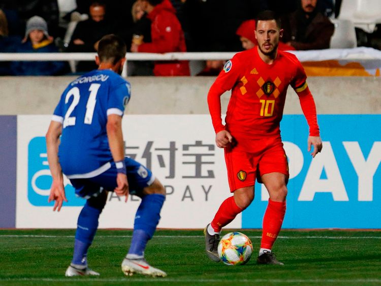 Belgium's forward Eden Hazard