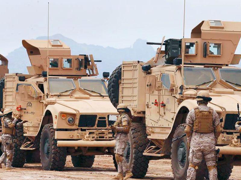 Coalition troops in action in Yemen.