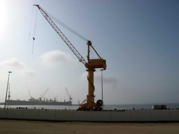 General view of Duqm Port in Oman 012