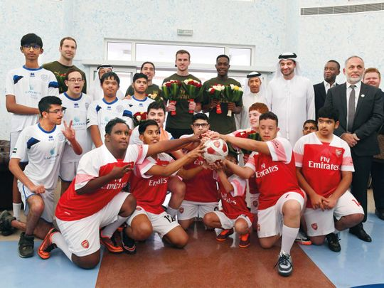 The Arsenal team visited the Rashid Center For People with Determination