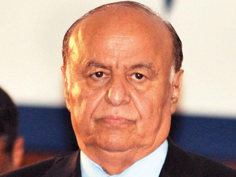 Yemeni President Abd Rabbo Mansour Hadi