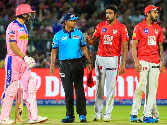 Jos Butler reacts after being Mankaded by R Ashwin