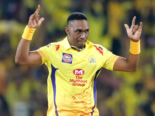 Chennai Super Kings' Dwayne Bravo