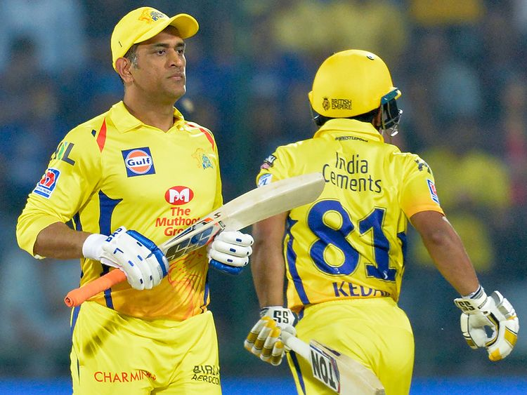 Chennai Super Kings batsmen MS Dhoni