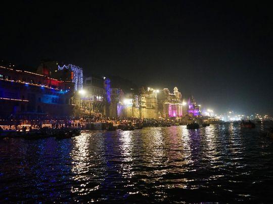 Devotees attend the Ganga Aarti 7