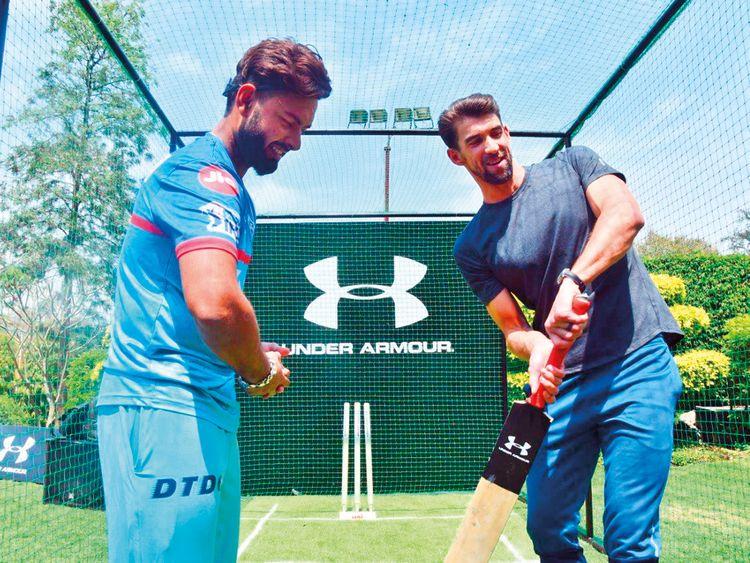 Phelps has a taste of cricket with Delhi Capitals