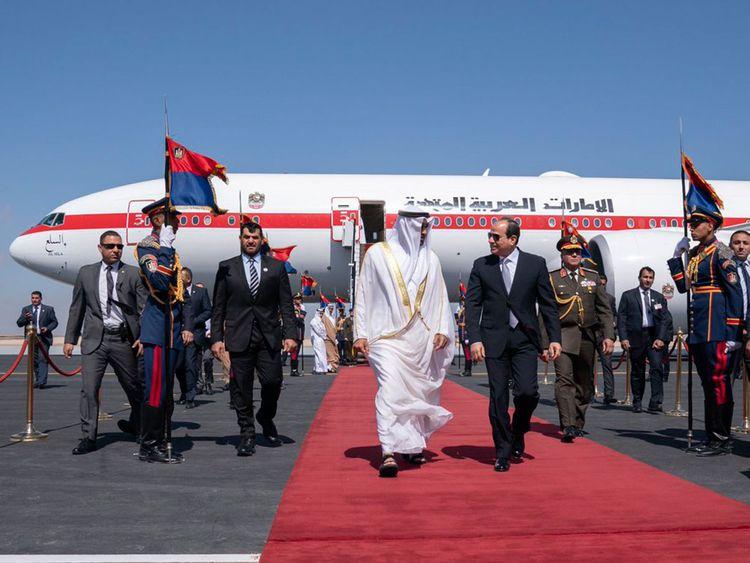 Shaikh Mohammad Bin Zayed with Al Sissi