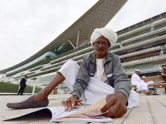 A Sudanese racegoer