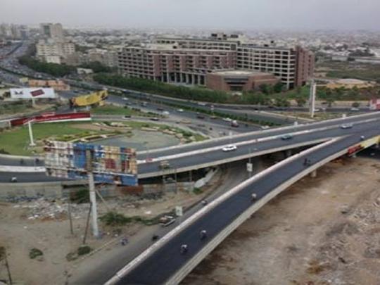 A road interchange in Karachi -09
