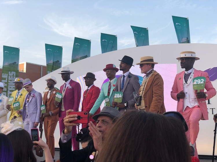 dd6dc7643adc Finalists for the Best Dressed Men competition at the Style Stakes in  Maydan Racecourse, during the Dubai World Cup 2019. Image Credit: Marwa  Hamad / Gulf ...
