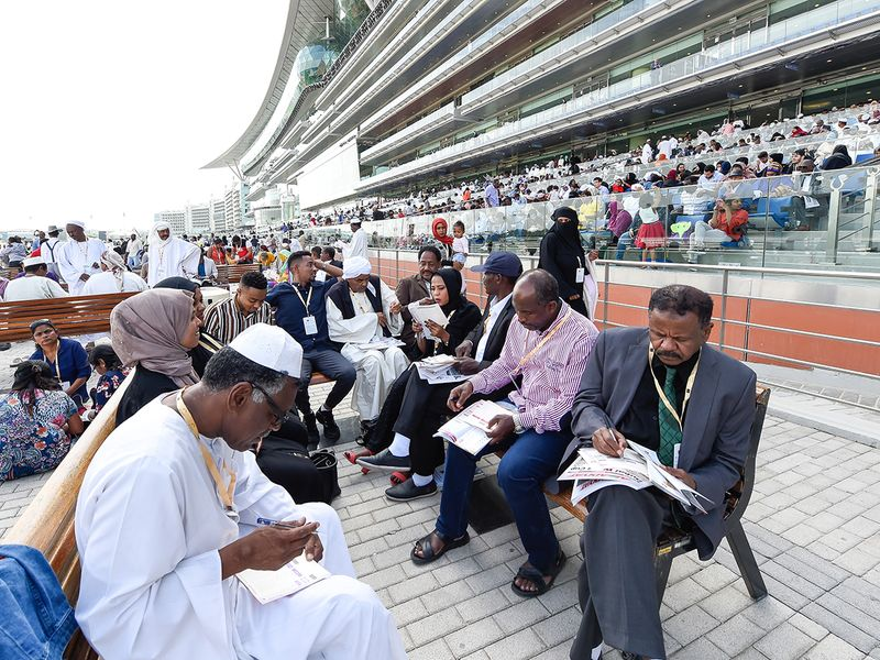 Racegoers turned in large numbers at Meydan