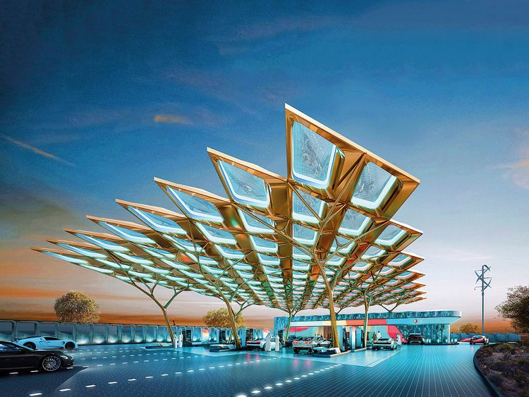 Enoc unveils Ghaf tree-inspired service station for Expo 2020 Dubai