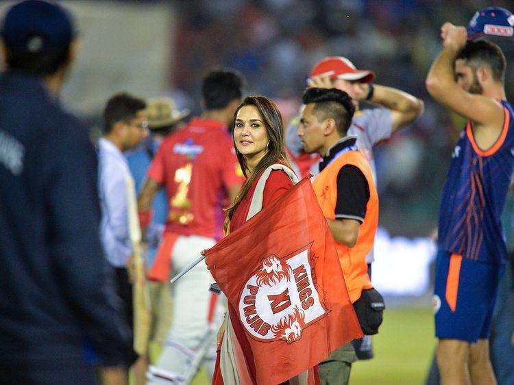 Kings XI Punjab team owner Preity Zinta
