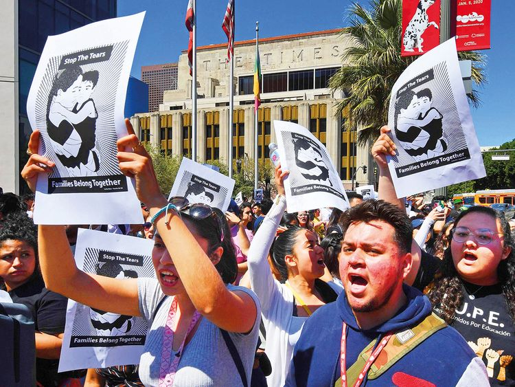 Migrant rights protesters demonstrate