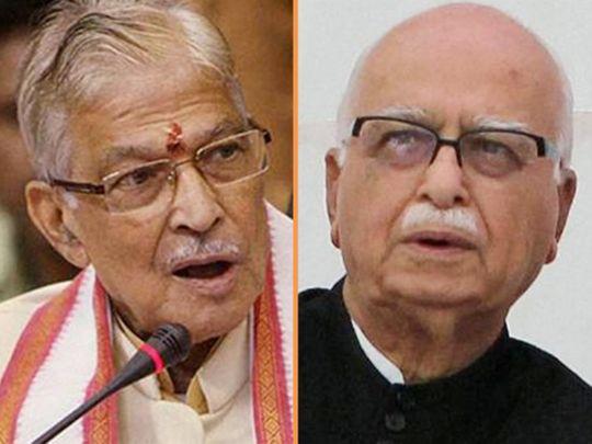 Murli Manohar Joshi and L.K. Advani