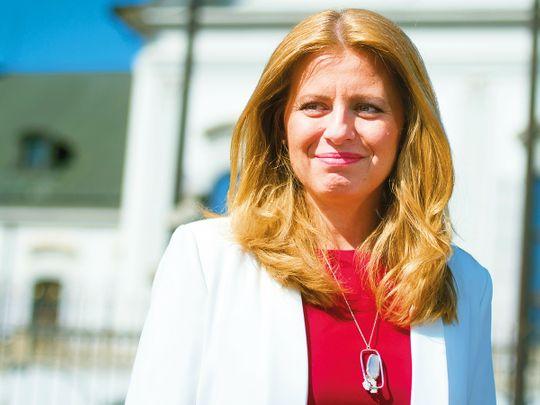 Newly elected Slovakia's President elect Zuzana Caputova