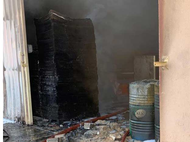 The fire broke out in a perfume warehouse in Ajman 091