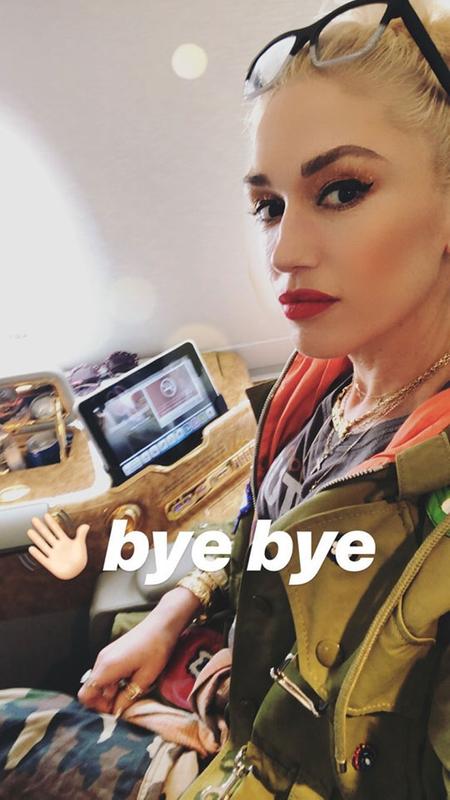 Gwen Stefani airplane