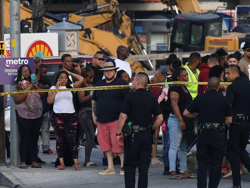 Nipsey Hussle crime scene