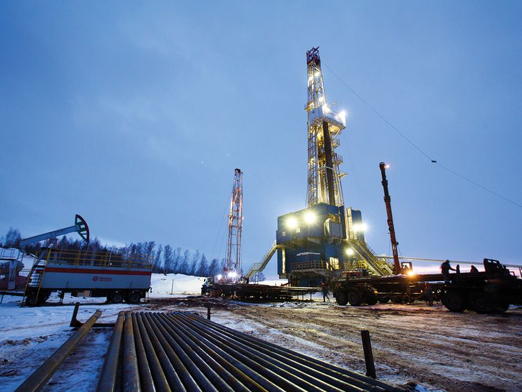 An oil drilling rig operated by Tatneft