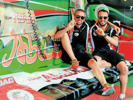 Shaun Torrente (left) and teammate Thani Al Qamzi
