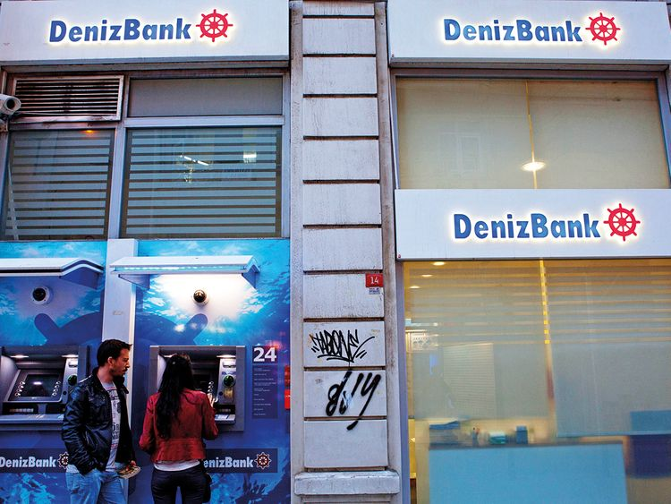 A Denizbank branch in Istanbul
