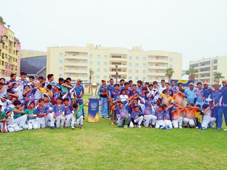 The ICC World Cup when it visited the Maxtalent Academy