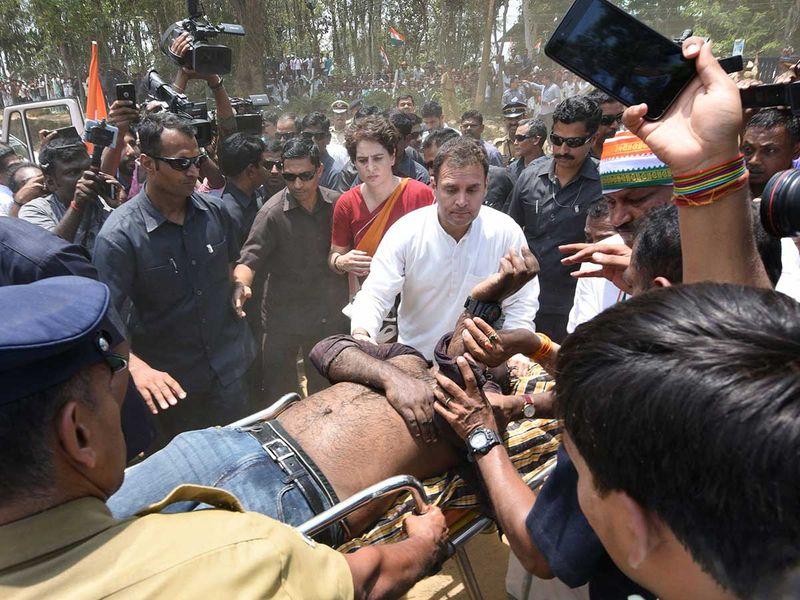Indian National Congress Party president Rahul Gandhi and Priyanka Gandhi Vadra  20290404