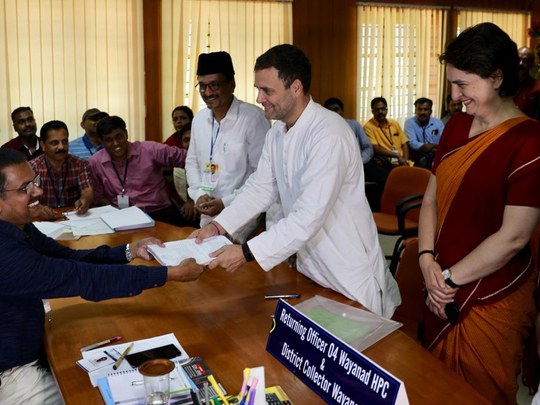 Rahul Gandhi files nomination from Wayanad