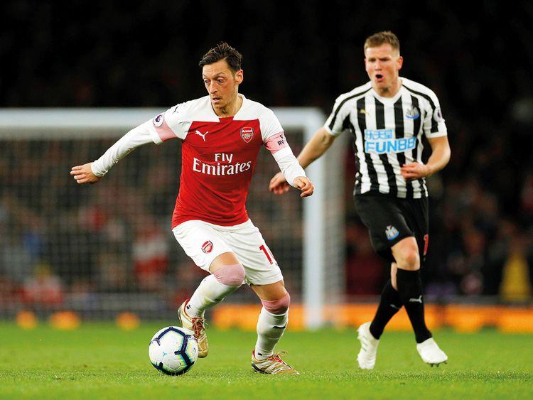Arsenal's Mesut Ozil