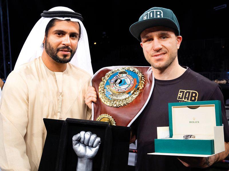 Boxing promoter Ahmed Al Siddiqui