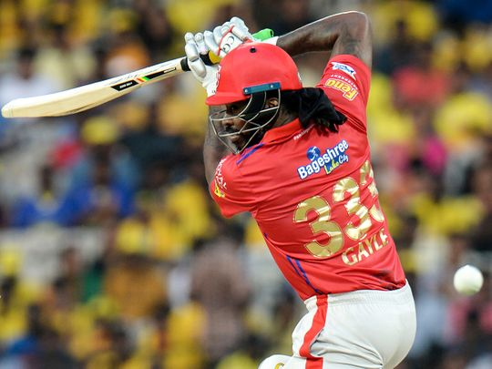 Kings XI Punjab cricketer Chris Gayle