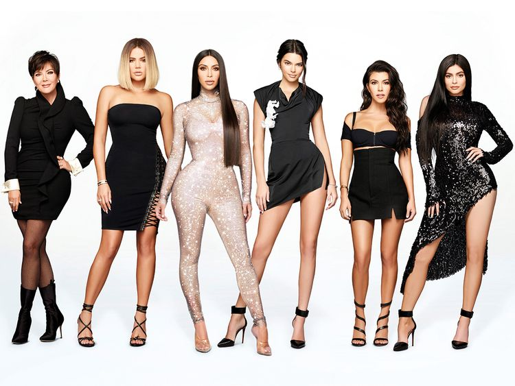Kris, Khloe, Kim, Kendall, Kourtney and Kylie.
