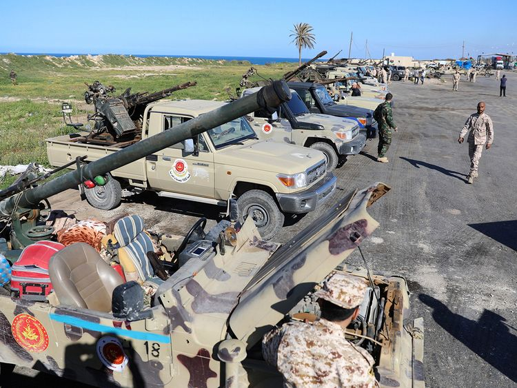 Military vehicles of Misrata forces