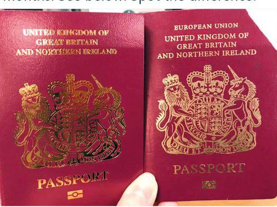 The new UK passport