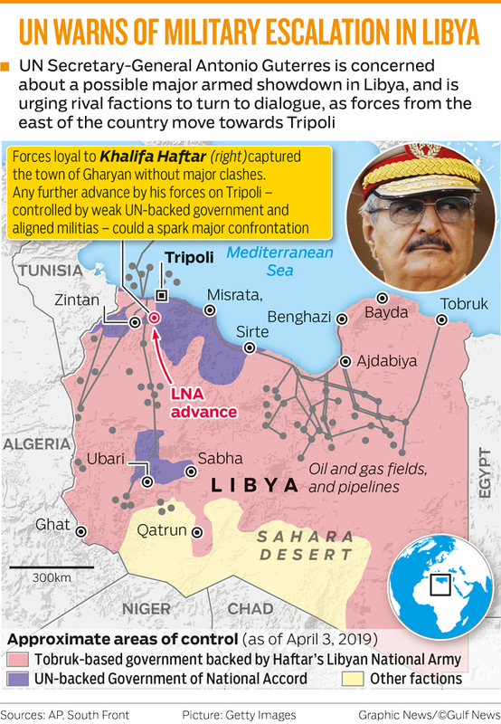 UN WARNS OF MILITARY ESCALATION IN LIBYA